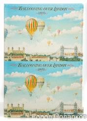 Обложка для автодокументов Путешествие на воздушном шаре Лондон