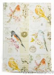 Обложка для автодокументов Птицы