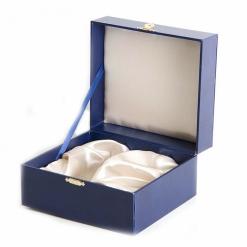 Подарочный футляр для подстаканника синий(кожзам)