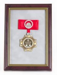 Орден в багете За взятие Юбилея!(красный бант, стразы)