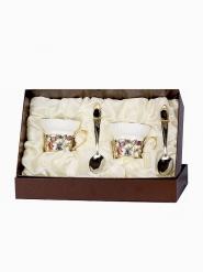 Чайная пара фарфоровая Колокольчики(эмаль) в картонном футляре