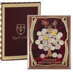 Панно Денежное дерево(голуби) Счастья и богатства в дом! в картонной коробке