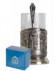 Набор для чая (3 предмета) ГУМ никел. карт. коробка