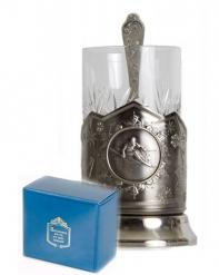 Набор для чая (3 предмета) Горнолыжный спорт никел. карт. коробка