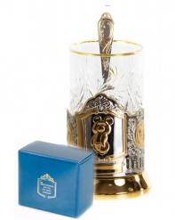 Набор для чая  (3 предмета) Олимпийский Мишка позолочение карт.коробка