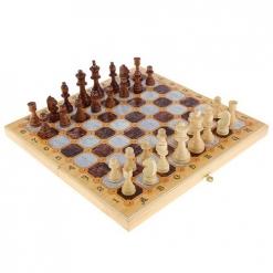 Набор средний 3 в 1 Мраморные  (Шахматы, нарды, шашки)