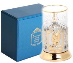 Набор для чая (3 предмета) Пушкин (штамп) позолочение карт. коробка
