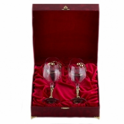 Бокалы для красного вина серия Вишня  2 шт в шкатулке бумвинил