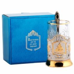 Набор для чая  (3 предмета) Приятного чаепития позолочение карт.коробка