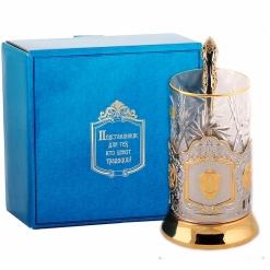 Набор для чая  (3 предмета) ФСБ (штамп) позолочение карт.коробка