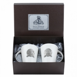 Набор из двух чашек с накладками 1 000 000, пейсли, накладка Прибыли и Процветания УФ металл