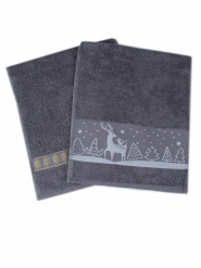 Новогодний набор полотенец в подарочном мешке Оленёнок