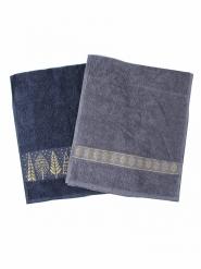 Новогодний набор полотенец в подарочном мешке Лес