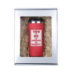"""Термокружка """"You and me..."""" красная в подарочной упаковке"""