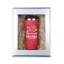 """Термокружка """"Ее величество мама"""" красная в подарочной упаковке"""