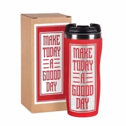 """Термокружка """"Make today"""" красная в подарочной упаковке"""