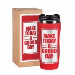 """Термокружка """"Make today"""" 3 красная в подарочной упаковке"""