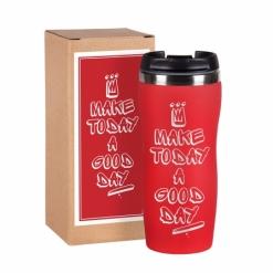 """Термокружка """"Make today"""" 5 красная в подарочной упаковке"""