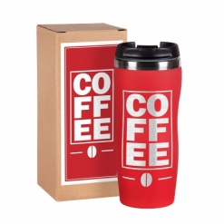 """Термокружка """"COFFEE""""  красная в подарочной упаковке"""