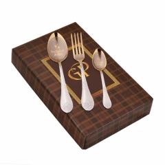 """Набор столовых предметов """"Любимая жена"""" 3 предмета (столовая ложка, вилка, чайная ложка) в картонной коробке"""