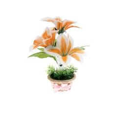 Светильник декоративный Букет из великолепных лилий в горшочке