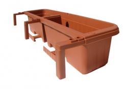 Балконный ящик с крючками RONDINE 80см около 18л