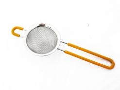 Сито 8см с силиконовой ручкой, нержавеющая сталь