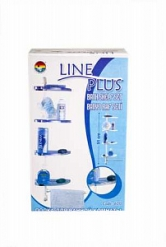 LINE PLUS Полка для ванной комнаты бел(уп 12 шт)