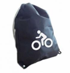 """Мешок для обуви, """"Вело"""", со световозвращающей аппликацией, 36х48см, черный,  COVA™"""