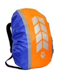 """Чехол на рюкзак со световозвращающими лентами, """"МИКС"""", цвет вас-к-оранж, объем 20-40 л, PROTECT™"""