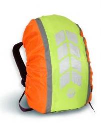 """Чехол на рюкзак со световозвращающими лентами, """"МИКС"""", цвет оранж-лимон, объем 20-40 л,  PROTECT™"""