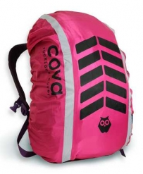 """Чехол на рюкзак со световозвращающими лентами, """"СИГНАЛ"""", цвет фуксия, объем 20-40 литров, PROTECT™"""