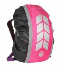 """Чехол на рюкзак со световозвращающими лентами, """"МИКС"""", цвет черный-фуксия, объем 20-40 л,"""