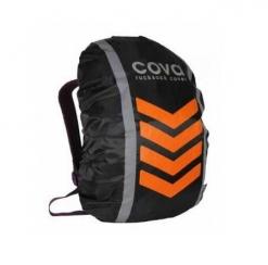 """Чехол на рюкзак со световозвращающими лентами, """"НЕОН"""", цвет оранж, объем 20-40 литров,"""