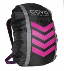 """Чехол на рюкзак со световозвращающими лентами, """"НЕОН"""", цвет фуксия, объем 20-40 литров"""