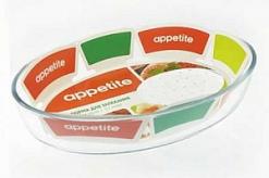 Форма стекл овал 35x24x6см/3,2л ТМ Appetite