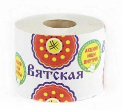 """Бумага туалетная """"Вятская"""" 1 рулонная"""