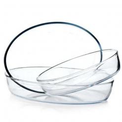 Форма для запекания стеклянная, набор 3шт