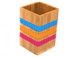 Подставка для столовых приборов Н 15,3см РАДУГА, бамбук