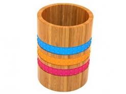 Подставка для столовых приборов Н 17,8см РАДУГА бамбук