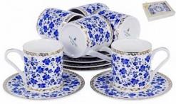 Набор кофейный   6 чашек 100мл   6 блюдец