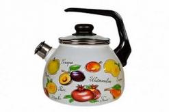 Чайник эмал 3,0л со свистком Гратен-фрукты ТМ Appetite