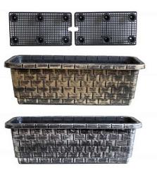 Ящик балконный COPPER 70*25*20см