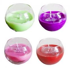 Свеча в стакане цветная 7*5,5см