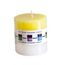 Свеча-столбик 7*7,5см цветная, ароматическая