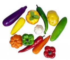 Муляж овощей 12шт