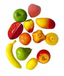 Муляж фруктов 12шт