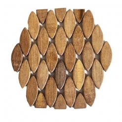 Подставка под горячее бамбуковая 17*17см, в индивид.упак.