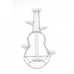 Подставка Напольная Гитара на 6 горшков М0000039