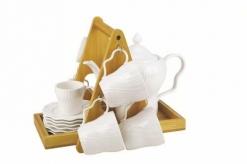 Набор кофейный JEWEL Воздушный зефир 14 предметов на подставке, 8 шт/упак